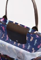 STYLE REPUBLIC - Fox print weekender - brown & blue