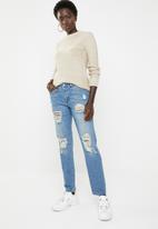 Jacqueline de Yong - Jazz boyfriend jeans - blue