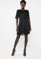 Jacqueline de Yong - Paris short sleeve dress - black