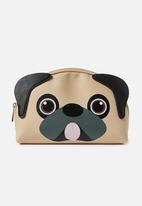 Typo - Novelty cosmetic bag - brown & black