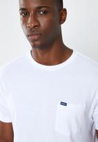 RVCA - Colour label short sleeve tee - white