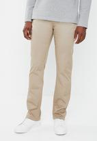 POLO - Milano stretch straight leg chino pants - khaki