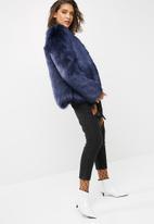 dailyfriday - Faux fur jacket - navy