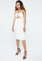 Forever21 - Bodycon dress with cutout - white