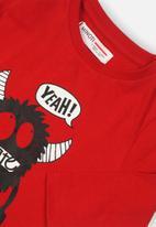 MINOTI - Yeah! skate graphic tee - red