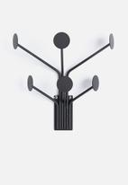 Present Time - Wall dots coat hanger - black iron