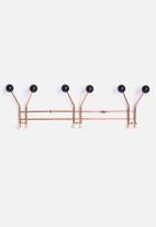 Present Time - Hat rack jupiter copper with black balls