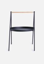 Sixth Floor - Slop lamp table - black
