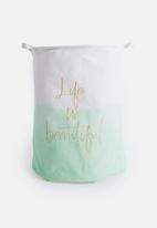 Sixth Floor - Life is beautiful laundry basket - mint