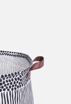 Sixth Floor - Dizzy laundry basket - black/white
