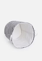 Sixth Floor - Striped laundry basket - black/white