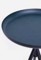 Sixth Floor - Sam tri table - black & blue