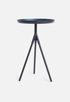 Sixth Floor - Sam tri side table - black & blue
