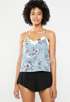 New Look - Nicola floral satin cami - grey
