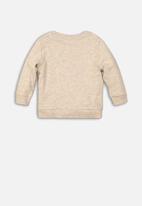 MINOTI - Make some noise plastic print sweatshirt - cream & grey
