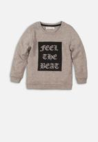 MINOTI - Feel the beat cut out print sweatshirt - grey
