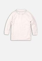 MINOTI - Basic long sleeve Polo - white