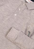 MINOTI - Basic long sleeve Polo - grey