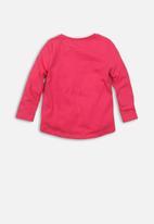 MINOTI - Girls rule long sleeve top - pink