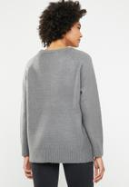 Noisy May - Terp long sleeve sequins jersey - grey