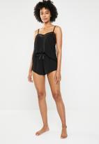 Superbalist - Sleep cami & shorts set - black