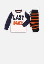 MINOTI - Lazybones long sleeve pyjama set - multi