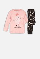 MINOTI - Sweet dreams pyjama set -  pink & black