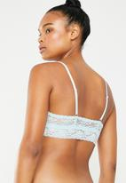 Superbalist - Lace non padded bralette - blue