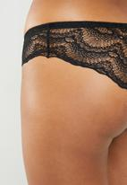 Superbalist - Scalloped lace panty - black