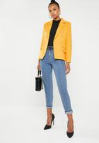 Missguided - Core military blazer - yellow