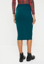 Missguided - Ribbed cord pencil skirt - green