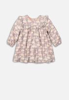 MINOTI - Infants aop dress & knicker set - grey