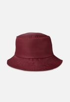 Cotton On - Bella bucket hat - burgundy
