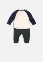 MINOTI - 2 Piece long sleeve top & jog-pant set - navy