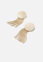 Cotton On - Mississippi earring - gold
