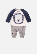 MINOTI - Long sleeve top & pant set - grey & navy