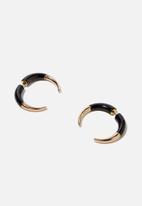 Cotton On - Utah earring - gold & black