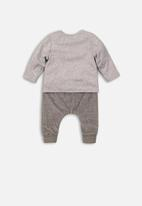 MINOTI - 2 piece long sleeve top & pant set - grey