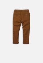 MINOTI - Basic chino pants - tan