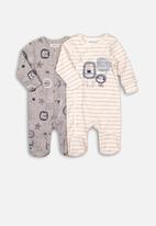 MINOTI - Sleepsuit - grey & cream