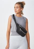 Cotton On - Geo belt bag - black