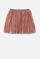 MINOTI - Teens pleated velvet skirt - rust