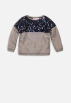 MINOTI - Sequin panel jumper - grey