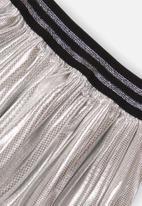 MINOTI - Pleated foil skirt - silver