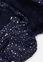 MINOTI - Girls foil coat - navy