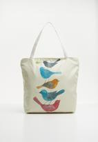 STYLE REPUBLIC - Bird print shopper bag - neutral