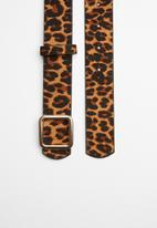 New Look - Leopard square buckle - multi
