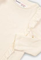 MINOTI - Kids frilled long sleeve top - cream