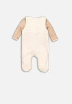 MINOTI - Dungaree & bodysuit set - cream
