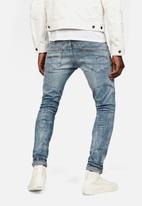 G-Star RAW - Deconstructed skinny superstretch - blue